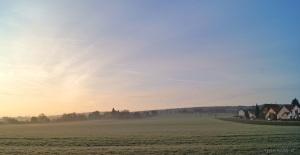 Wintermorgen untem im Dorf