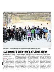 Gletschermeisterschaft der Evestorfer Dorfgemeinschaft HAZ, 28. Januar 2015
