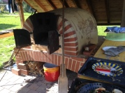 Lehmofen kühlt langsam aus