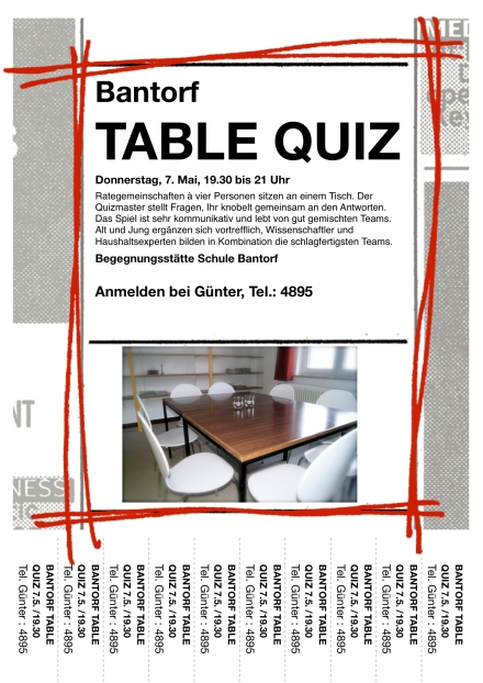 Table Quiz Anmeldung 07052015