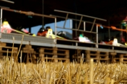 Autoscooter auf dem Dorfacker