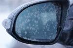 Eis am Außenspiegel