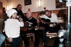 Limar, Pierre Mensching, Ferdy Doernberg und Metal-Fan Khaled