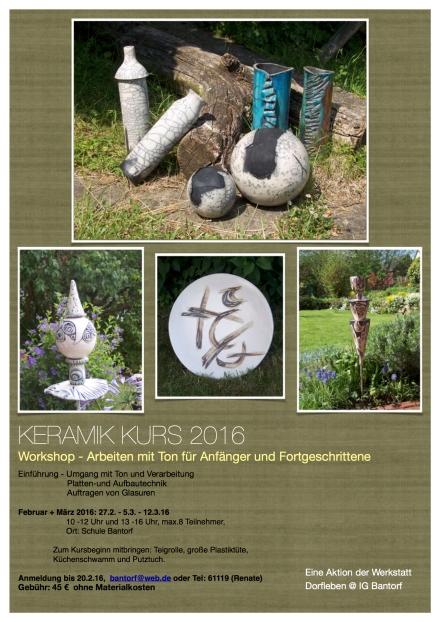 Keramikkurs 2016